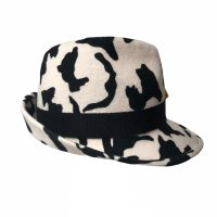 2021 Year of the COW – asymmetry trilby hat –